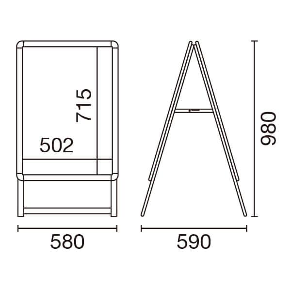 グリップA (B2) 両面 (シルバー/ブラック)│定番のポスターグリップを低価格で。