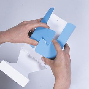 ペーパーリーフホルダー(各種)│低コストな紙製壁掛けホルダー