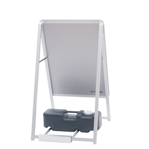 グリップA専用注水置台 伸縮タイプ(シルバー/ブラック)│注水ウエイト用置き台