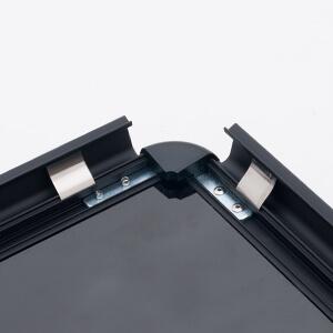 グリップA (A1) 片面 (シルバー/ブラック)│定番のポスターグリップを低価格で。