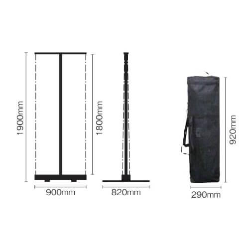 Uniロールアップバナー Twinクル タフネス+印刷セットでお得【送料無料】