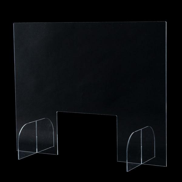 【即納】クリアパーテーション 窓付き W750│コロナ対策・飛沫感染予防に