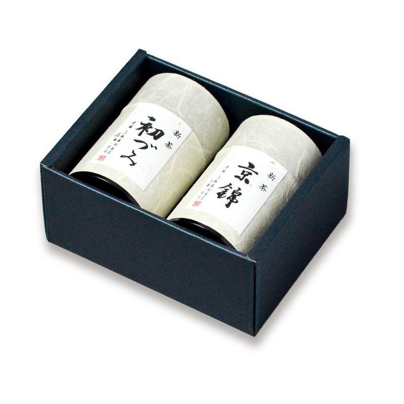 新茶 京錦・初づみ 100g缶箱入り