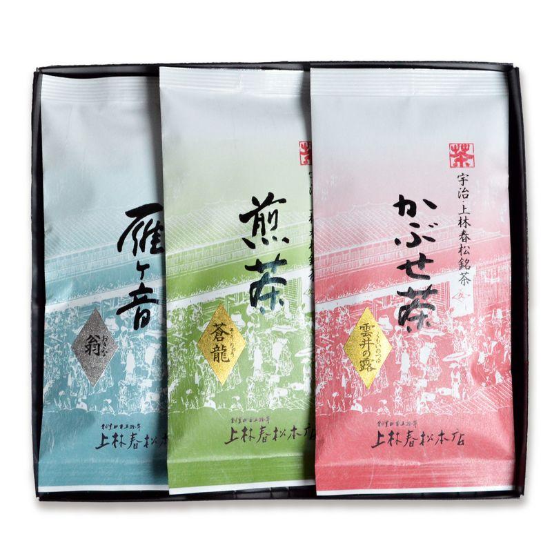 かぶせ茶 雲井の露・煎茶 蒼龍・雁ヶ音 翁 100g平袋箱入 (SFK10-26)