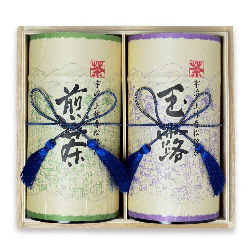 玉露 瑞茗・ 煎茶 相生 200g缶木箱入り (A2-100)