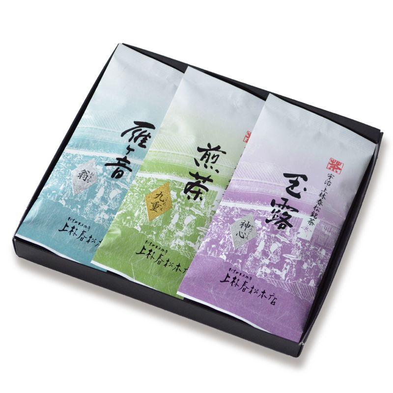 <母の日>玉露 神心・煎茶 九重・雁ヶ音 翁 100g平袋箱入(HFK-10-30)