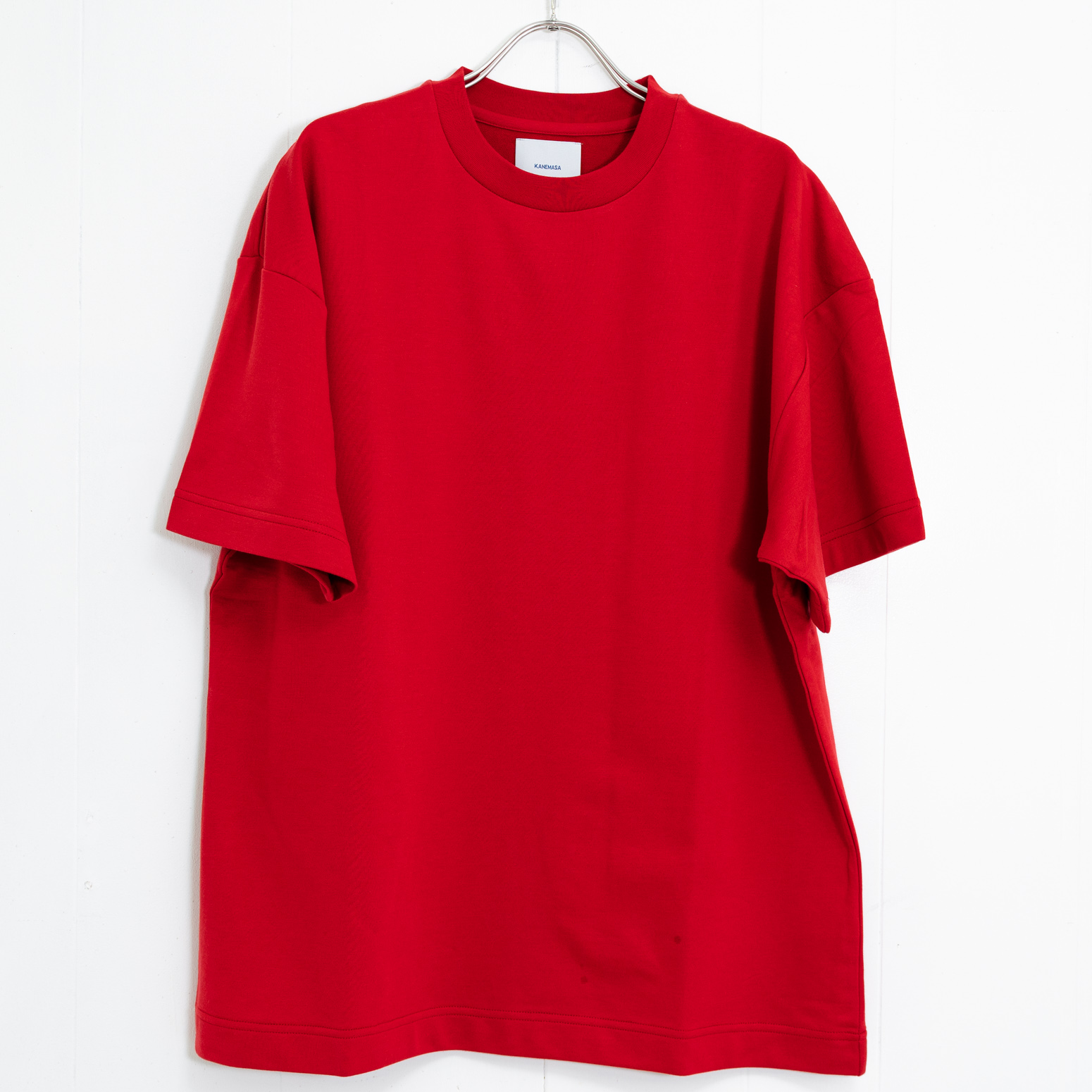【sold out】Super High Gauge Loose Fit Crew neck cut & sew