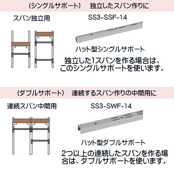 コノ字型シングルサポート シューノ32 SS3-SSF-14 1200mm
