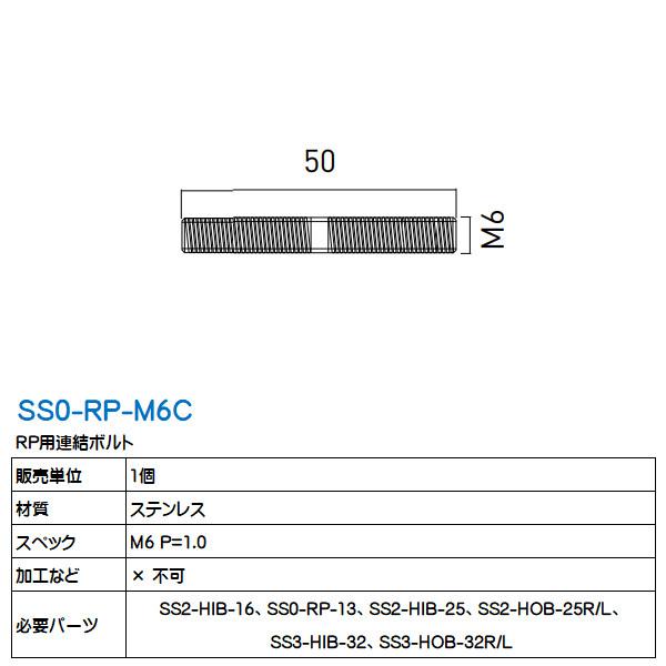 RP用連結ボルト シューノ用 SS0-RP-M6C