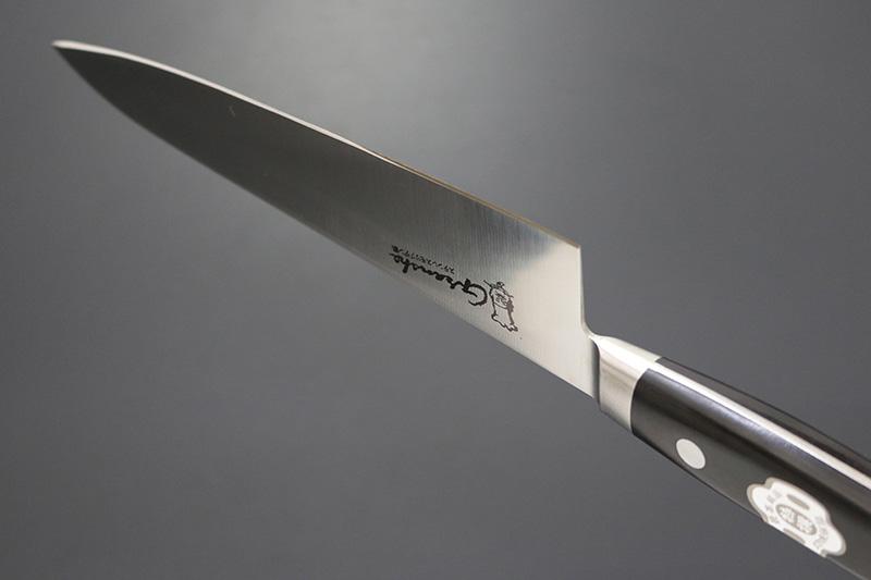 グランシェ / Granshe モリブデン鋼 口金付黒合板柄 牛刀210mm 本刃付(KC-722)