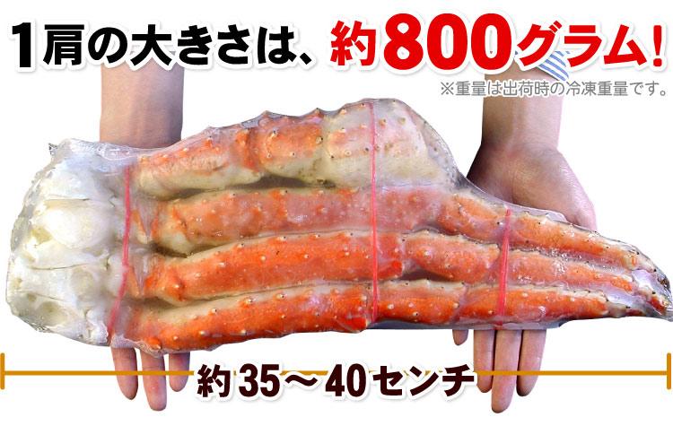 たらばがに足Lサイズ約800g×2肩(約1.6キロ)【送料無料】