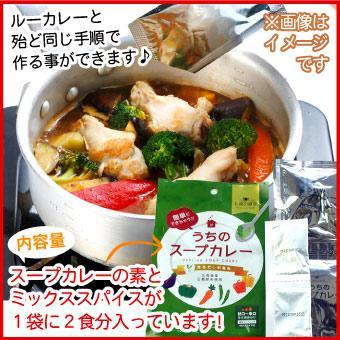 【メール便♪送料無料】札幌の食卓 うちのスープカレー(昆布だし和風)1袋(2食入)MIXスパイス付き【代引不可・着日指定不可・同梱不可】