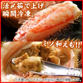 毛蟹(毛ガニ)400g前後×2尾入【送料無料】