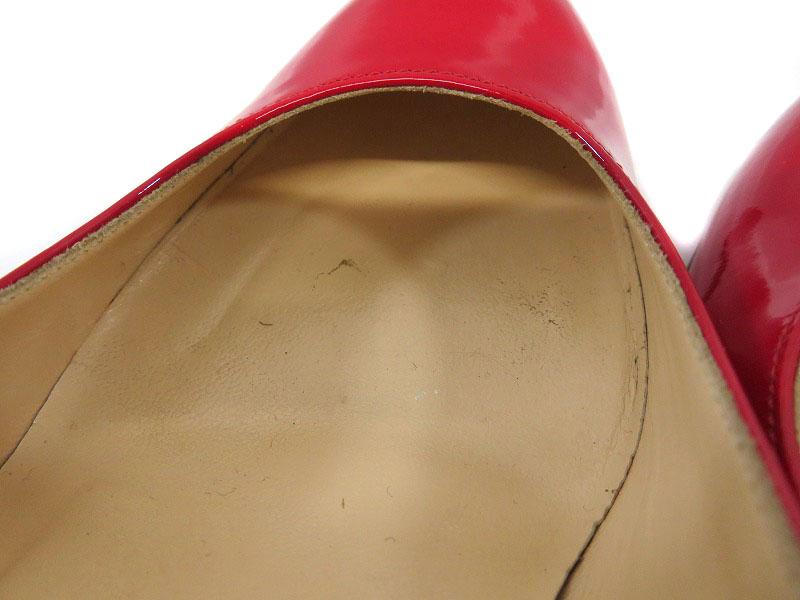 Christian Louboutin【クリスチャンルブタン】3080363 パンプス ヒール サイズ:約22.5cm(35 1/2) レッド 赤 靴 レディース 【中古】USED-6 質屋 かんてい局細畑店 h3104636928700001
