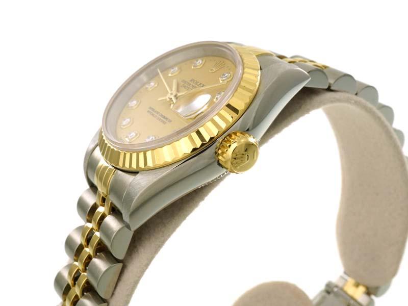ROLEX【ロレックス】 69173G デイトジャスト ダイヤ ステンレス ゴールド K18  レディース 腕時計 S番 自動巻 オートマチック USED 【中古】 質屋 かんてい局 春日井店 k19-4370