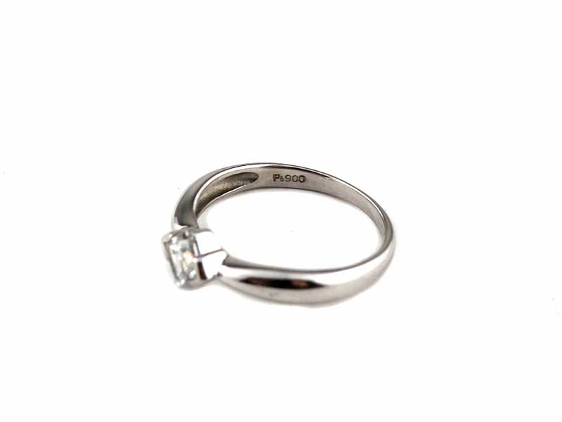 Pt900 プラチナ900 石付き デザインリング 指輪 約8号 約2.6g レディース アクセサリー ジュエリー オシャレ【中古】USED-9 質屋 かんてい局小牧店 c3103173028500129