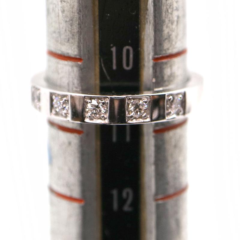 BVLGARI【ブルガリ】 5Pダイヤ マリーミーリング Pt950 プラチナ 約10.5号 ジュエリー 指輪 レディース USED-9【中古】 A2001160 質屋 かんてい局茜部店