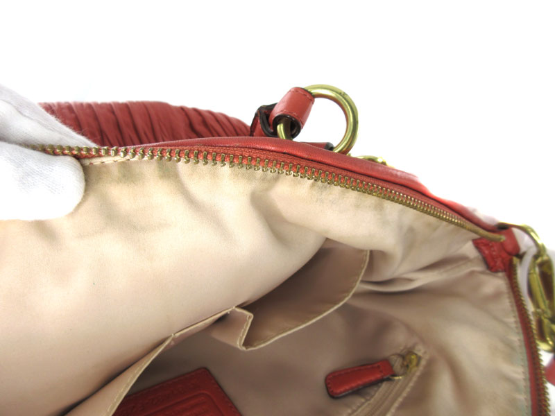 COACH【コーチ】F28542 『2WAYバッグ』ショルダーバッグ ハンドバッグ 鞄 レザー オレンジ系 ブランド ファッション レディース 【中古】USED-B【6】k2000893-222 質屋かんてい局春日井店