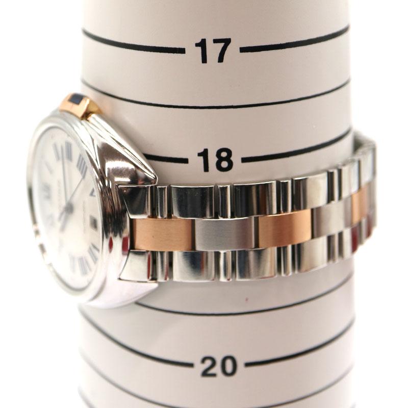 Cartier【カルティエ】 W2CL0002 クレドゥカルティエ ステンレススチール ピンクゴールド 自動巻き 腕時計 メンズ USED-9【中古】 A2000308 質屋 かんてい局茜部店