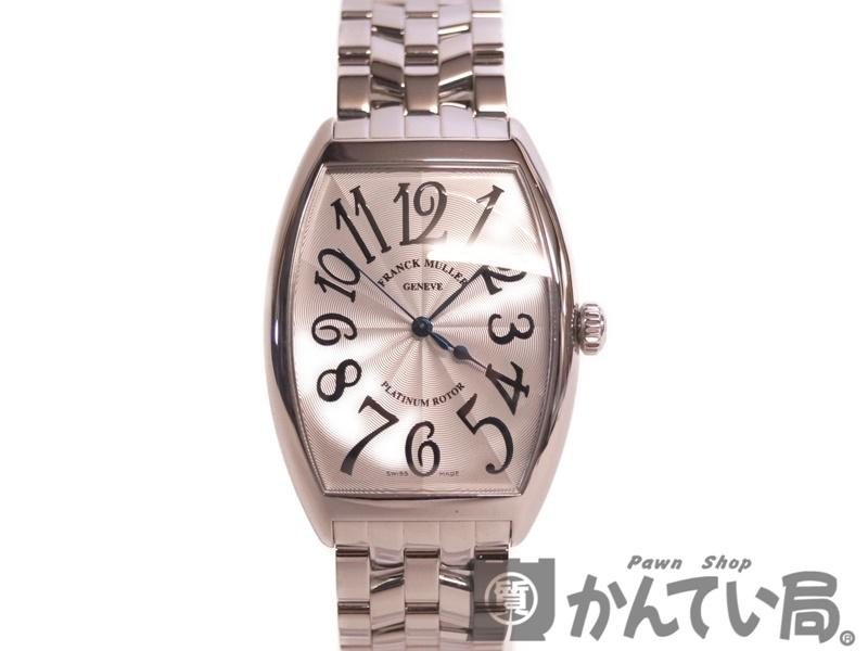 FRANCK MULLER【フランクミュラー】 6850SC トノーカーベックス SS ステンレス シルバー メンズ 自動巻き 腕時計 USED-8 【中古】 質屋 かんてい局本社 F69-7696