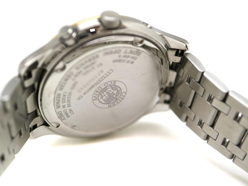 CITIZEN【シチズン】 H415-S033039 エコドライブ ステンレススチール 日付表示 10気圧防水 ブランド ファッション 腕時計 【中古】 質屋 かんてい局茜部店 USED-6 a19-9488