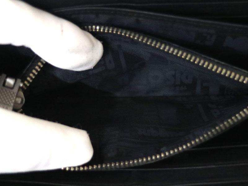 DIESEL【ディーゼル】ラウンドファスナー財布 デニム ブルー系 レザー メンズファッション【中古】USED-7 質屋かんてい局小牧店 c20-243