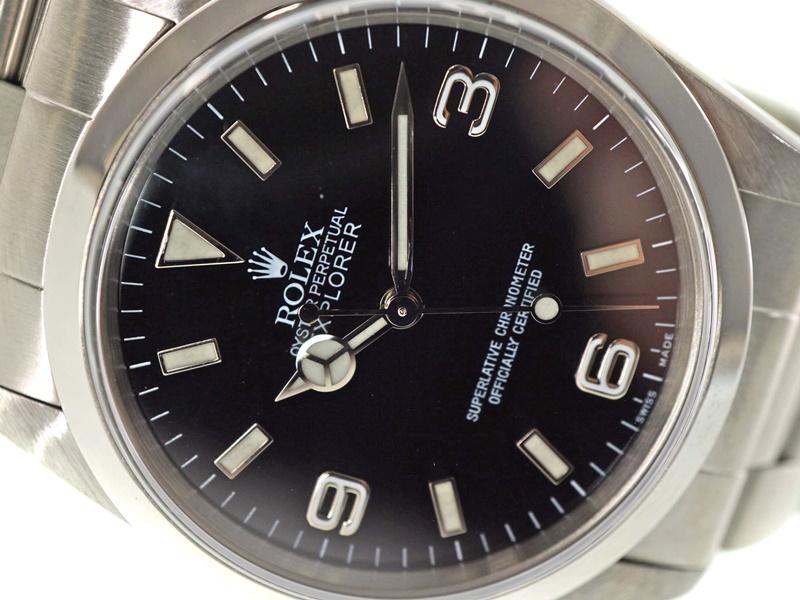 ROLEX【ロレックス】 14270 エクスプローラー1 ステンレス メンズ 腕時計 P番 自動巻き 黒文字盤 【中古】 USED-9 質屋 かんてい局春日井店 k3100004928900003