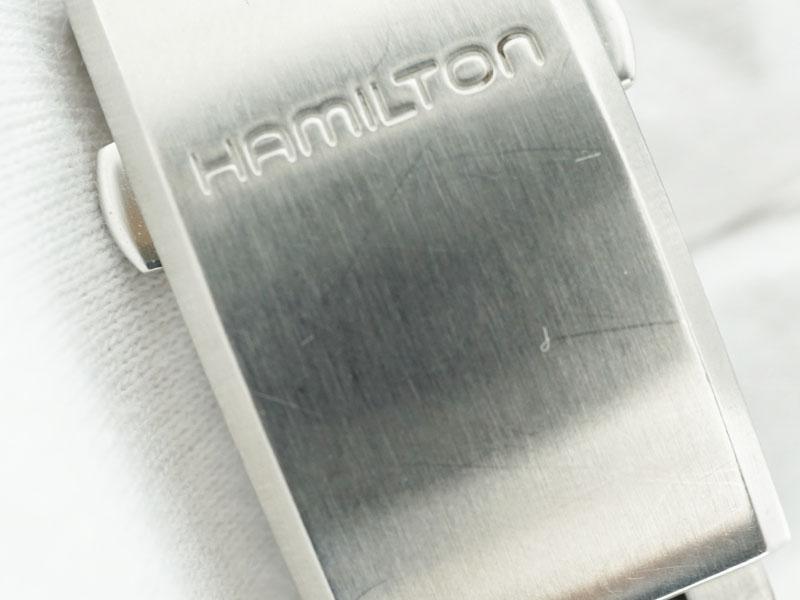 HAMILTON【ハミルトン】 H704450 カーキフィールド メンズ SS 自動巻き アラビア オートマ デイト 腕時計 USED-6【中古】 質屋 かんてい局細畑店 h2001051
