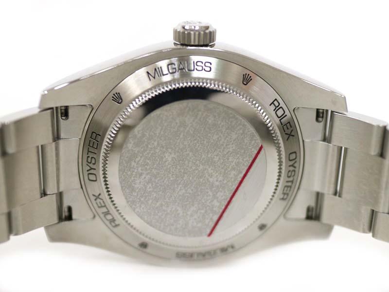 【保証書付き】 ロレックス 116400 ミルガウス ホワイト V番 腕時計 マンゴー ステンレススチール メンズ オレンジ 稲妻 【中古】 質屋 かんてい局小牧店 c20-313 USED-9