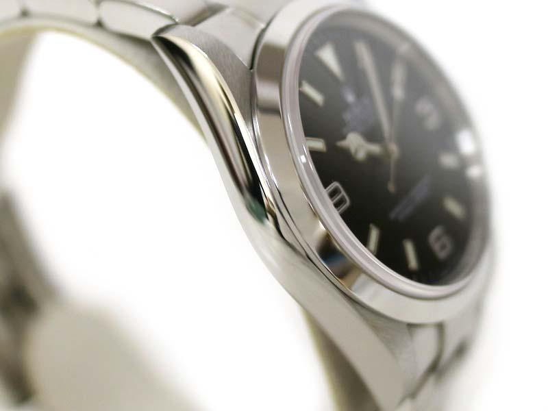 【保証書付き】 ロレックス 114270 エクスプローラー1 ステンレススチール F番 腕時計 メンズ 自動巻 ブラック ROLEX 【中古】 質屋 かんてい局小牧店 c3100004928500037 USED-9