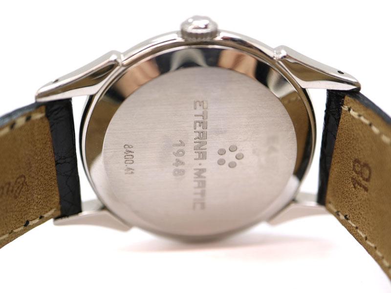 ETERNA MATIC【エテルナマティック】 8400.41 自動巻き オートマ 腕時計 日付表示 レザー USED-7【中古】 a3100106928600003 質屋 かんてい局茜部店