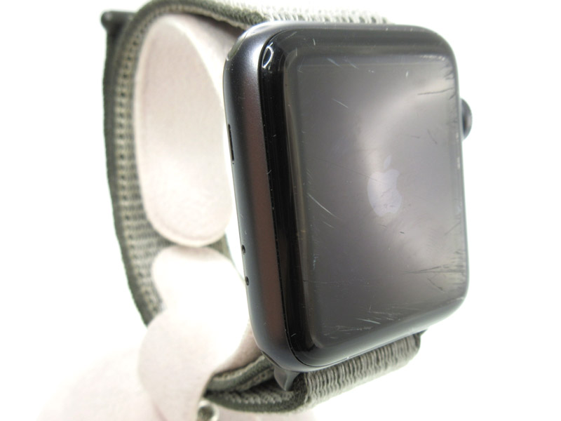 Apple【アップル】MQKR2J/A APPLE Watch3 SS(ステンレススチール) ウーブンナイロン 約38mm 人気 定番 腕時計 アップルウォッチ 家電 メンズ レディース ファッション ブランド【中古】 USED-BC【5】 k19-1264 質屋かんてい局春日井店