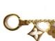 LOUIS VUITTON【ルイヴィトン】 M65111 フルール ドゥ モノグラム バッグチャーム 金属素材 ゴールド系×ベージュ系×ホワイト系 LV USED-8 【中古】質屋 かんてい局 小牧店 c19-2038