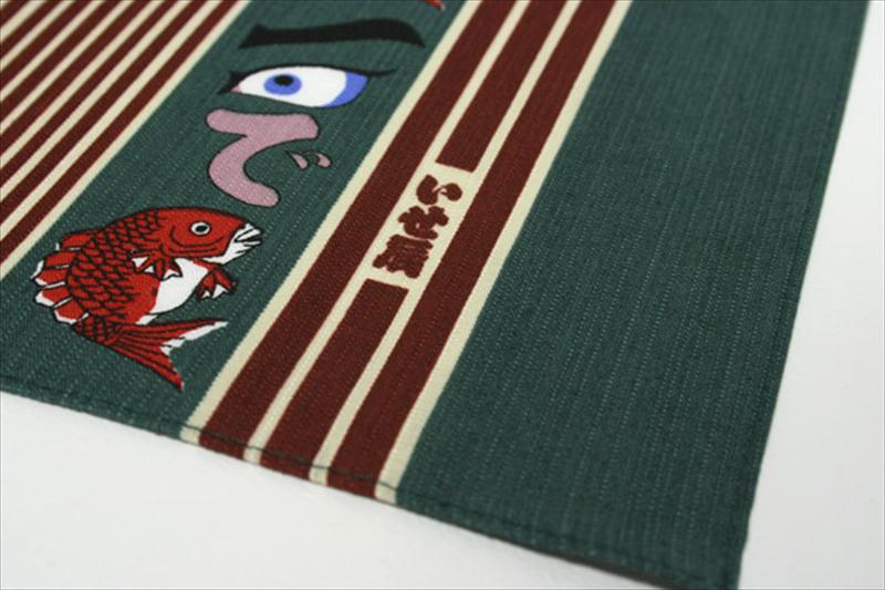 江戸千代紙の老舗いせ辰の風呂敷(ふろしき)めで鯛90cm