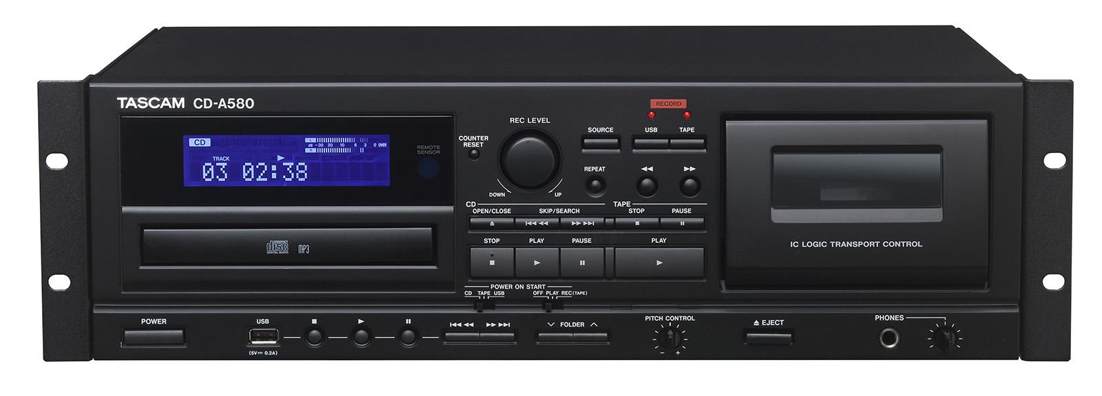 中古 ☆美品☆ TASCAM ( タスカム ) / CD-A580 CDプレーヤー/カセットレコーダー