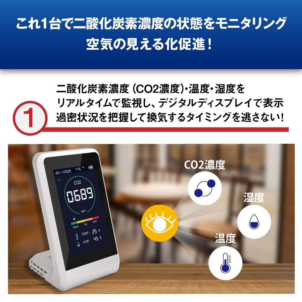 DF-2 + CO2マネージャー パーソナル空間向け小型空気清浄機 +CO2測定器 セット