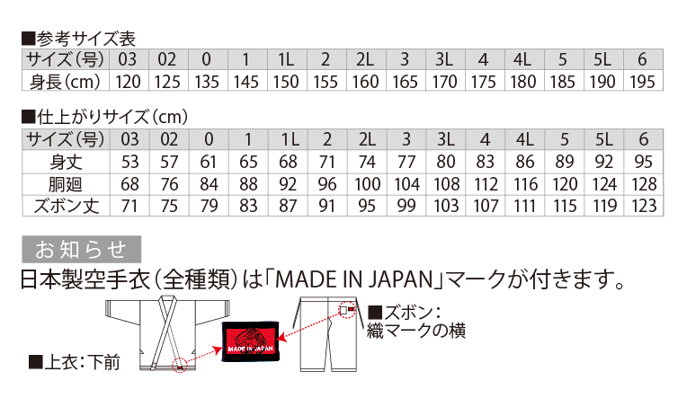 11号帆布黒空手衣