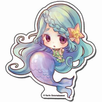 絶対迷宮秘密のおやゆび姫 アクリルキーホルダー 人魚姫・エーシェル