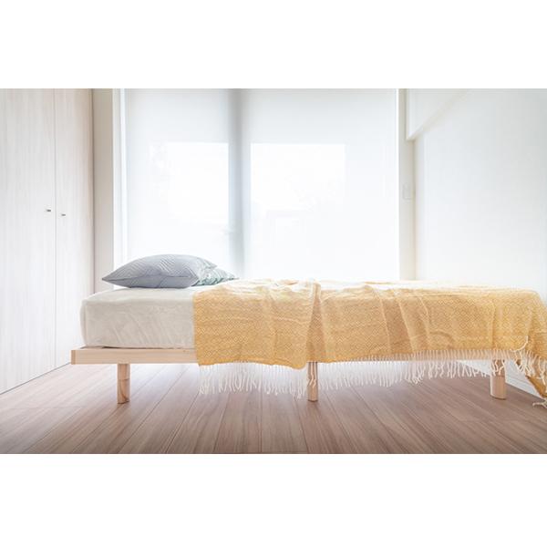 どんなお部屋にも合うシンプルなベッド、マットレス