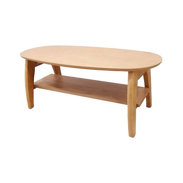 ナチュラルカラーのシンプルローテーブル