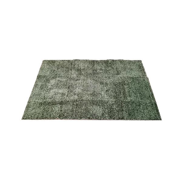 柔らかい芝生色のラグ
