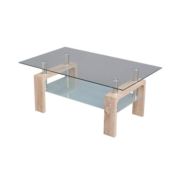 ガラス天板がおしゃれなローテーブル