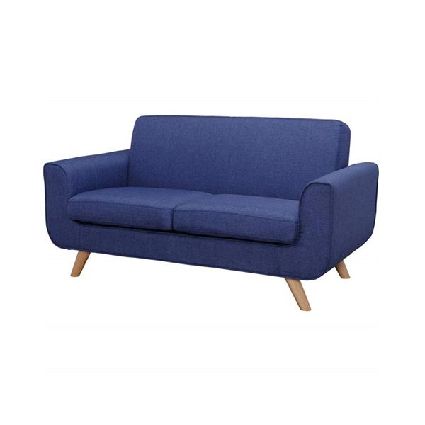 ブルーが鮮やかな2Pソファ