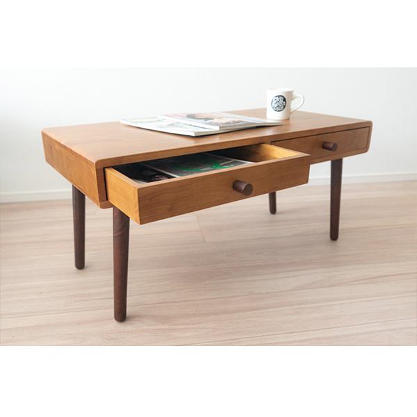 ヴィンテージ家具調なコンパクトローテーブル