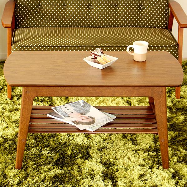 やさしいブラウンのコーヒーテーブル