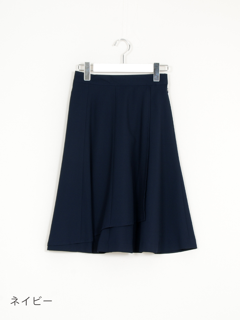 【60%OFF】合繊無地巻風ハギフレアースカート【AW SALE】
