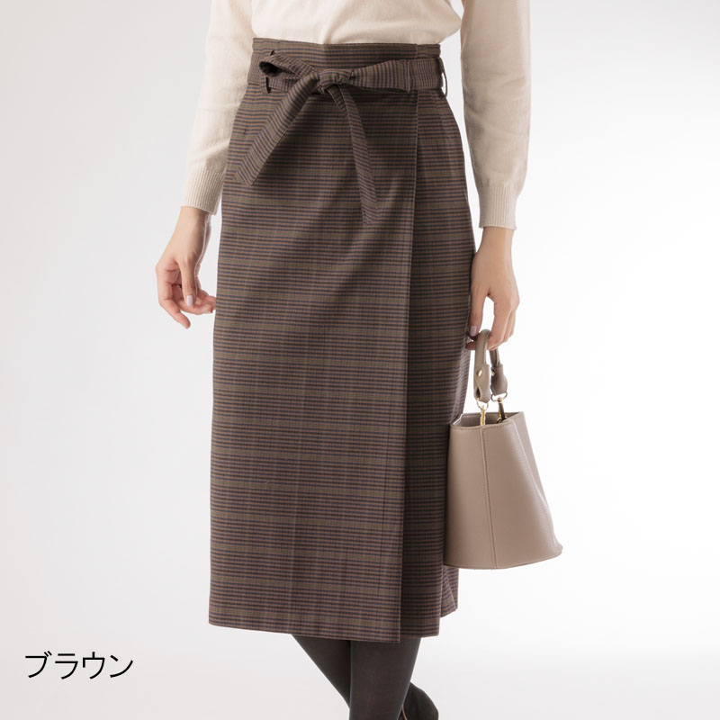 【50%OFF】格子ロングタイトスカート【AW SALE】