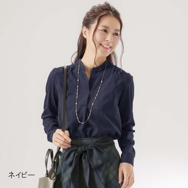 【50%OFF】スウェードシャツブラウス【AW SALE】