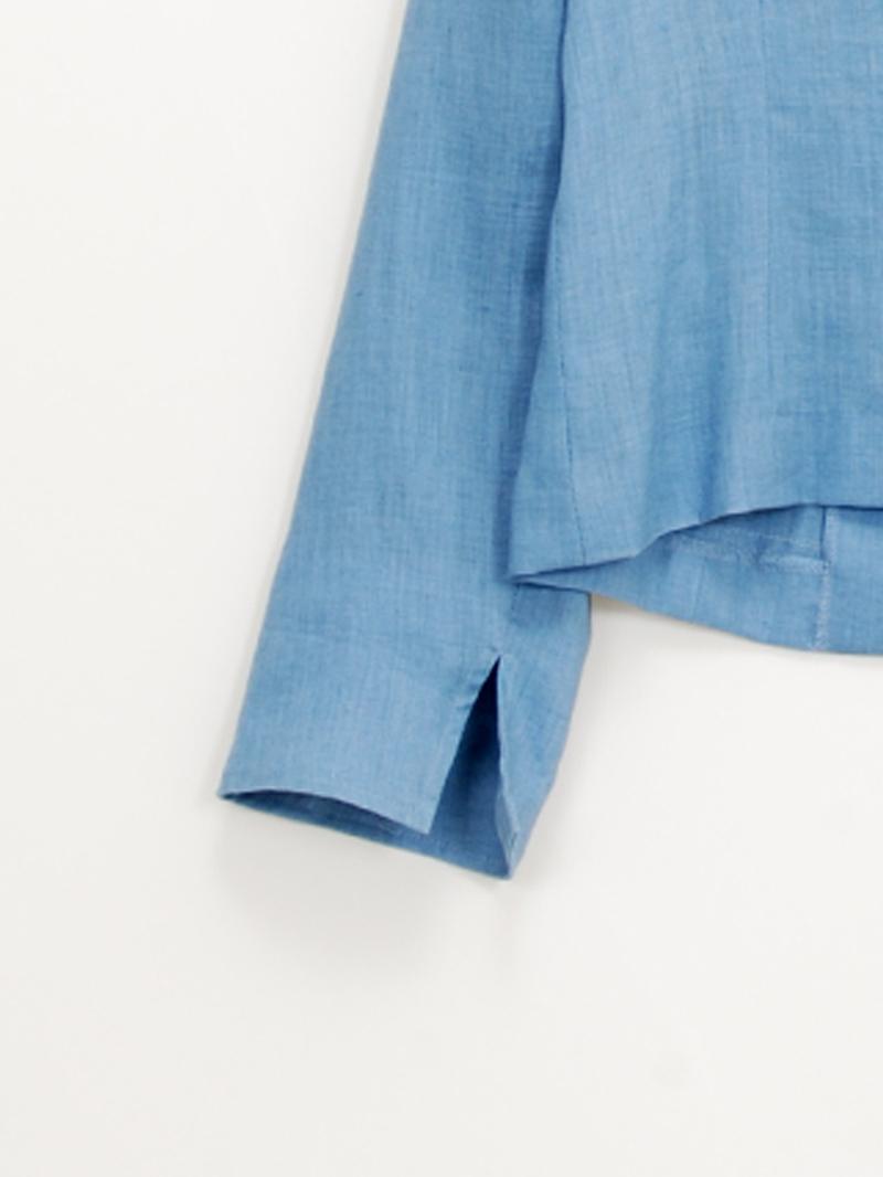 【30%OFF】リネンノーカラージャケット【SS SALE】