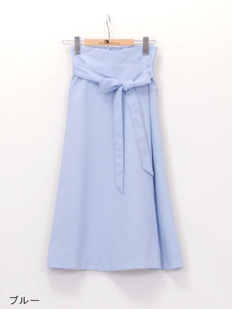 【40%OFF】麻混巻風フレアースカート